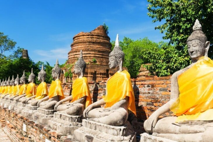 Ayutthaya Historical Park - night train to Chiang Mai